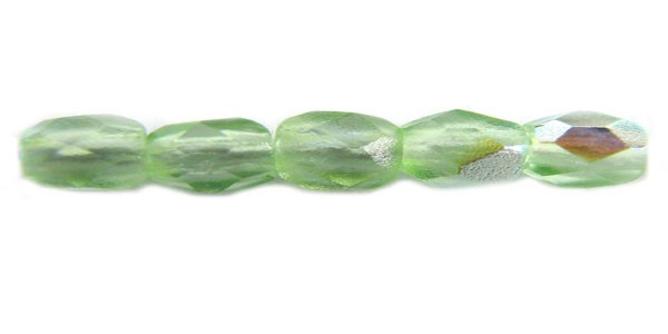 3mm Round Czech Glass Fire Polished Bead, Peridot AB