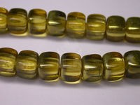 Czech Pressed Glass Cube Bead 8x11mm, Goldfish Mirrored (Pkg of 300 Pieces)