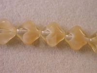 Czech Pressed Glass Diagonal Square Bead 12mm, Carmel Cloud (Pkg of 300 Pieces)