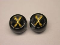Czech Pressed Glass Alphabet Bead 6mm Black Bead, Gold Letter X (Pkg of 144 Pieces)