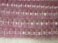 Czech Pressed Glass Round Smooth Spacer Bead 3x6mm, Lumi Rose (Pkg of 300 Pieces)