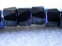 Czech Glass Fire Polished Faceted Pony Bead 6mm, Jet Black AB Coated (Pkg of 300 Pieces)