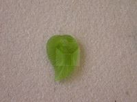 Czech Pressed Glass Leaf Bead 26x18mm, 12 Pieces Olive Green Matte