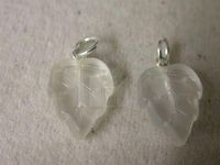 Leaf ClearMatte glass pendant 12