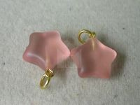 Star PinkMatte glass pendant P12