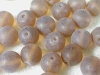 Czech Pressed Glass Smooth Round Druk Bead 10mm, Dark Topaz Matte (Pkg of 300 Pieces)