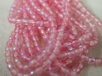 Czech Pressed Glass Smooth Round Druk Bead 3mm, Sprayed Rose AB, (Pkg of 600 Pieces)