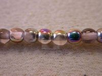 Czech Pressed Glass Smooth Round Druk Bead 4mm, Rose Pink Vitreal, (Pkg of 600 Pieces)