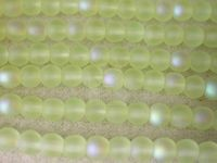Czech Pressed Glass Smooth Round Druk Bead 4mm, Yellow Matte AB Coated, (Pkg of 600 Pieces)