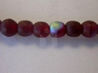 Czech Pressed Glass Smooth Round Druk Bead 4mm, Garnet Red Mat AB Coated, (Pkg of 600 Pieces)