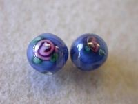 flower bead AqueBlue