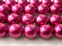 Czech Glass Smooth Round Pearl Bead 10mm, Rose Quartz (Pkg of 300 Pieces)