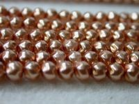 Czech Glass Baroque Pearl Bead 4mm, Cinnamon (Pkg of 600 Pieces)
