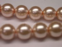 Czech Glass Smooth Round Pearl Bead 12mm, Pink (Pkg of 300 Pieces)