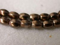 Czech Glass Pellet Pearl Bead 6x4.5mm, Copper (Pkg of 300 Pieces)