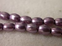 Czech Glass Pellet Pearl Bead 6x4.5mm, Lavender (Pkg of 300 Pieces)