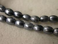 Czech Glass Pellet Pearl Bead 6x4.5mm, Hematite (Pkg of 300 Pieces)