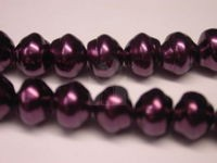 Czech Glass Baroque Pearl Bead 8mm, Eggplant (Pkg of 300 Pieces)