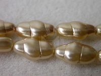 Czech Glass Swirl Pearl Bead13x7mm, Caramel (Pkg of 300 Pieces)