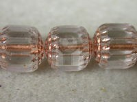 Czech Glass Fire Polished Antique Beveled Cathedral Bead 10mm, Clear Copper Lined, (Pkg of 300 Pieces)