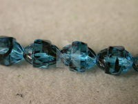 Czech Glass Fire Polished Beveled Antique Cathedral Oval Bead 10mm, Turquoise, (Pkg of 300 Pieces)