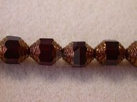 Czech Glass Fire Polished Antique Swirl Cathedral Bead 10x8mm, Garnet Red, (Pkg of 300 Pieces)