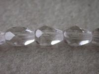 Czech Glass Fire Polished Drop Bead 7x5mm, Crystal, (Pkg of 300 Pieces)