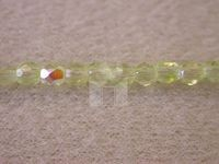 3mm Round Czech Glass Fire Polished Bead, Jonquil AB