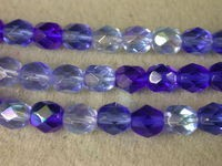 Czech Glass Fire Polished Round Bead 7mm, Sapphire Mix, (Pkg of 300 Pieces)