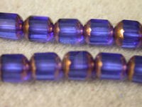 Czech Glass Fire Polished Antique Picasso Cathedral Bead 6mm, Bronze Sapphire, (Pkg of 300 Pieces)