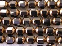 Czech Glass Fire Polished Antique Picasso Cathedral Bead 8mm, Bronze Jet Black, (Pkg of 300 Pieces)