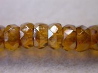 Czech Glass Fire Polished Rondel Spacer Bead 6x3mm, Topaz Celsian, (Pkg of 300 Pieces)