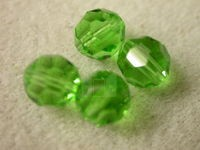 Preciosa Czech Round Crystal Bead 7mm, Peridot Green