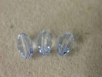 Preciosa Czech Olive Crystal Bead 10.5x7mm, Medium Sapphire Blue