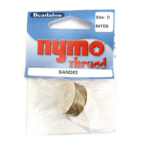Nymo Thread, Size D, 0.30 mm (.012 in), Sand #2, 1 pc