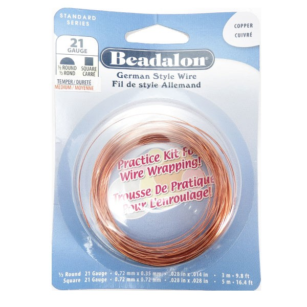 German Style Wire, Practict Kit, 21 gauge (.028 in, .72 mm), 8 m (26.24 ft)