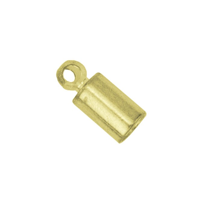 Cord Ends, Heavy, 2.7 mm (.106 in), Gold Color, 5 pc
