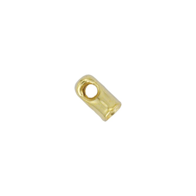 Cord Ends, Light 1.5 mm (0.06 in), Gold Color, 144 pc