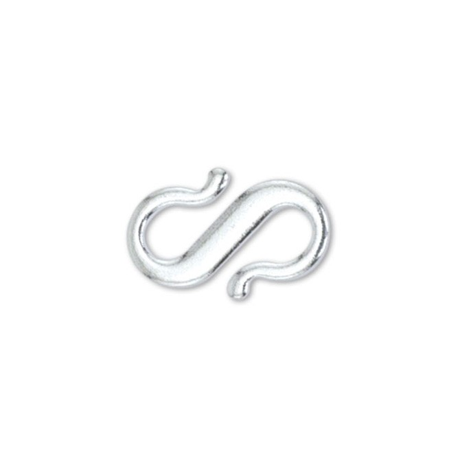 S-Hook, Small, Silver Plated, 7 pc