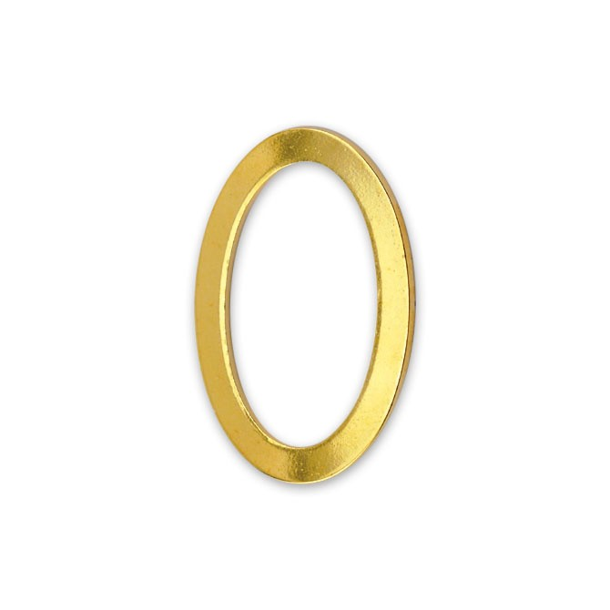 Solid Rings, 12 x 18 mm (.472 x .708 in), Flat, Gold Color, 4 pc