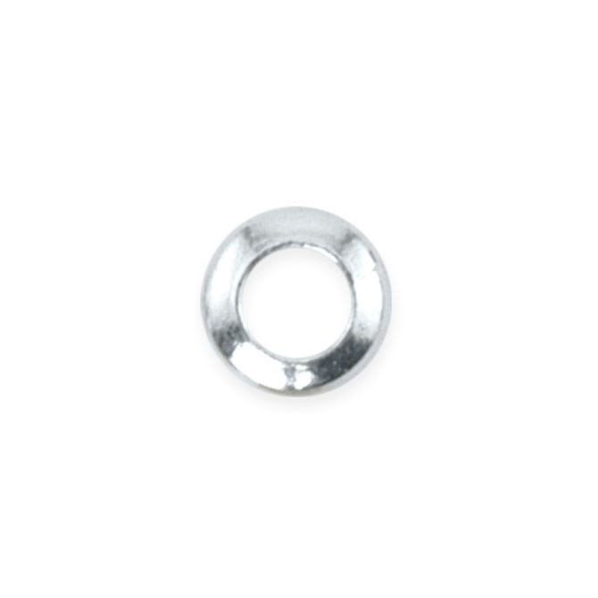 Solid Rings, 4 mm (.157 in), Silver Plated, 80 pc