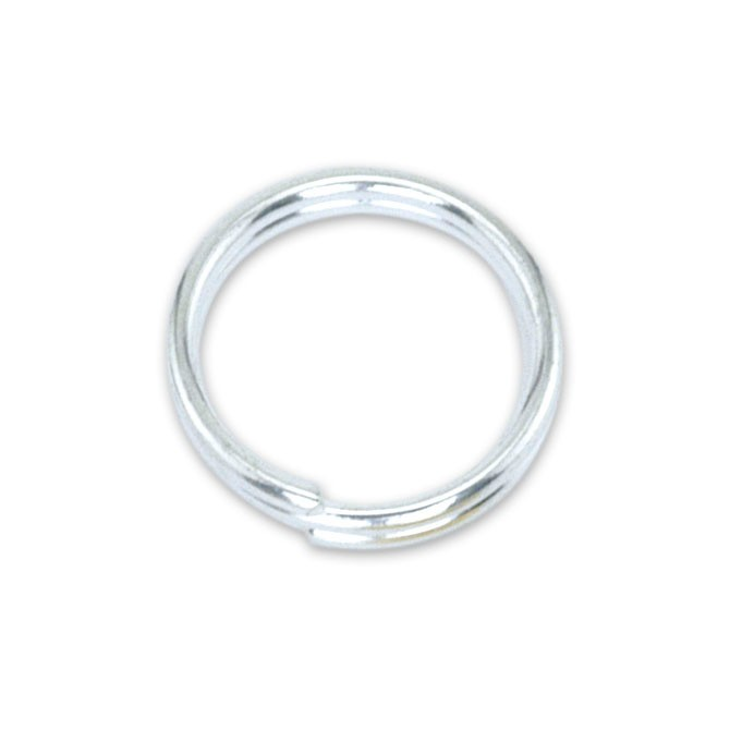 Split Rings, 8 mm (.315 in), Silver Plated, 15 pc