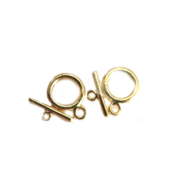 Toggle Clasps, Medium, Gold Color, 2 sets