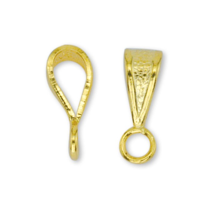 Pendant Bail, Fancy, 10 mm (.4 in), Gold Plated, 144 pc
