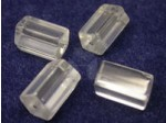 Czech Glass Cylinder Bead 15x10mm, Crystal (Pkg of 300 Pieces)
