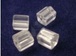 Czech Glass Cylinder Bead 7x7mm, Crystal (Pkg of 300 Pieces)