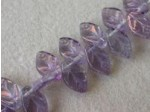 Czech Pressed Glass Leaf Bead 12x7mm, Clear Purple Tint (Pkg of 300 Pieces)