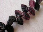 Czech Pressed Glass Leaf Bead 12x7mm, Amethyst Clear Combo (Pkg of 300 Pieces)