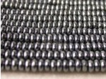 Czech Pressed Glass Disc Bead 4mm, Hematite (Pkg of 600 Pieces)