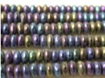 Czech Pressed Glass Disc Bead 4mm, Purple Iris (Pkg of 600 Pieces)